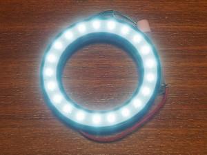 LEDマクロリングライト点灯時