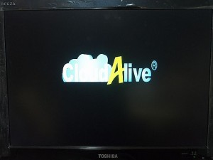 Android Mini PC CloudAlive 起動画面