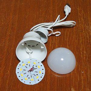 ダイソーの電球型LEDライト分解